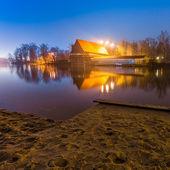 Urban beach at night — Stock Photo