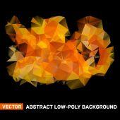 Vector abstract polygonal background — Stock Vector