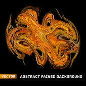 Vector abstract painted background — Stock Vector
