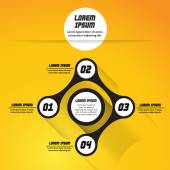 Abstract vector circle infographic — Stock Vector