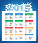 2015 year vector calendar for business wall calendar — 图库矢量图片