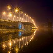 Havana bridge in Kiev at night. Ukraine. — Stock Photo