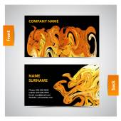 Vector abstract creative business cards — Stock Vector