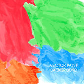Abstract artistic background by watercolor paint splashes of bright colors — Vector de stock