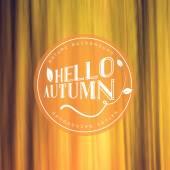 Hello autumn. Vector autumn background — Stock Vector