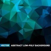 Modré abstraktní geometrická zmačkané trojúhelníkové nízké poly styl vektorové ilustrace grafické pozadí — Stock vektor