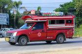 Orange mini truck taxi chiangmai — Stock Photo