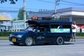 Green mini truck taxi chiangmai — Foto de Stock