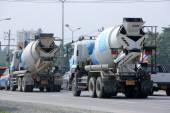 CHIANGMAI, THAILAND - OCTOBER 16  2014: Concrete truck of CPAC Concrete product company. Photo at road no.121 about 8 km from downtown Chiangmai, thailand. — Stock Photo