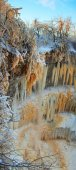 冷冻的冬季瀑布 — 图库照片