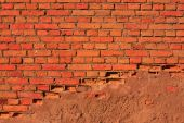 Red brick stone wall — Stock Photo