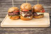 Tasty grilled burger — Stock Photo