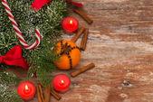 ろうそく、クリスマスの装飾 — ストック写真