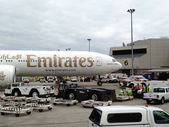 Emirates flight EK 237 under quarantine at Boston airport — Stock Photo