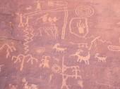 Prehistoric rock painting — Stock Photo