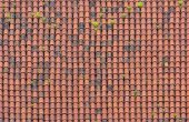 Roof with red tiles — Stock Photo