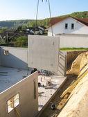Construction of a cellar — Stock Photo