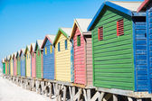 Colorful beach houses at Cape Town — Stock Photo