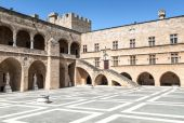 Palace of the Grand Masters, Rhodes — Fotografia Stock