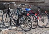 Bicycle parking — Fotografia Stock