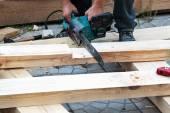 Carpintaria elétrica vi para madeira — Fotografia Stock