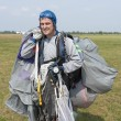 Skydiver after landing. — Stock Photo #69232203