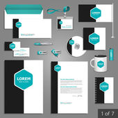 Corporate identity. Editable corporate identity template. Stationery template design — Stock Vector