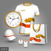Identidad corporativa. plantilla editable identidad corporativa. diseño de elementos promocionales — Vector de stock