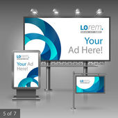 Corporate identity. Editable corporate identity template. Outdoor advertising design — Stock Vector