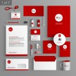 Corporate identity. Editable corporate identity template. Stationery template design — Stock Vector #54457045