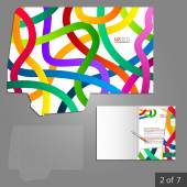 Corporate identity. Editable corporate identity template. Folder template design — 图库矢量图片