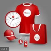 Corporate identity. Editable corporate identity template. Promotional elements design — Stock Vector