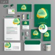 Corporate identity. Editable corporate identity template. Stationery template design — Stock Vector #54465561