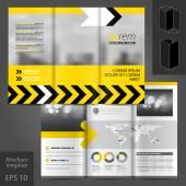 Diseño de plantilla folleto — Vector de stock