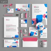 Corporate identity. Editable corporate identity template. Stationery template design — Stock Vector