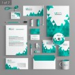 Corporate identity. Editable corporate identity template. Stationery template design — Stock Vector #54531089