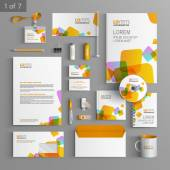 Corporate identity. Editable corporate identity template. Stationery template design — Vetorial Stock