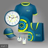 Corporate identity. Editable corporate identity template. Promotional elements design — Vector de stock