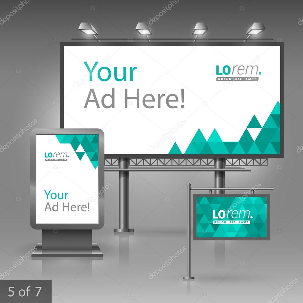 identity template White outdoor advertising design forpany