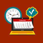 時間管理の概念 — ストックベクタ