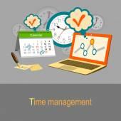 Концепция управления время — Cтоковый вектор