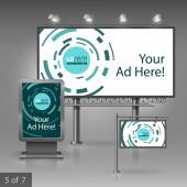 Outdoor advertising design — Stock Vector