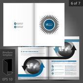 Broşür tasarım şablonu — Stok Vektör