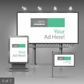 Diseño de publicidad al aire libre — Vector de stock