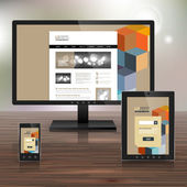 Design de modelo corporativo com aplicações — Vetor de Stock