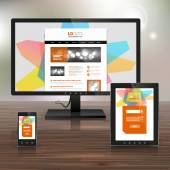 Corporate template design with applications — Stockvector