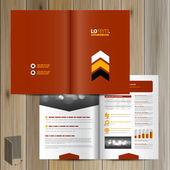 Brochure Template Design — Stock Vector