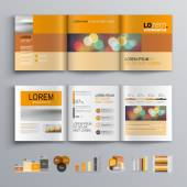 Broschüre-Template-design — Stockvektor