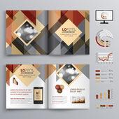 Návrh šablony brožura — Stock vektor