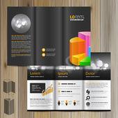 Brochure sjabloonontwerp — Stockvector